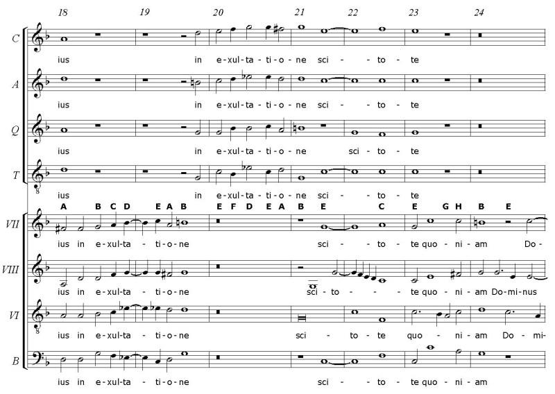 G. Gabrieli: frammento dal mottetto Jubilate Deo