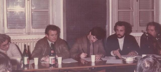 Giovanni Torre, Scattolin e Giorgio Vacchi durante una riunione dell'associazione.