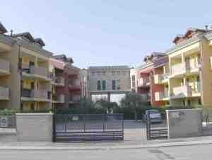 Vista della corte interna del Complesso condominiale a S.Anna di Piove di Sacco (PD)