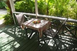 Petit bungalow : terrasse couverte