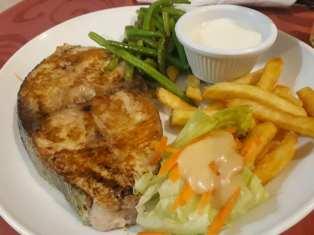 Grill Mahi frite salade