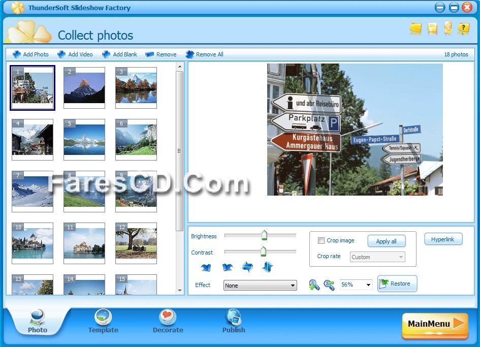 برنامج عمل سلايد شو وألبومات من الصور ThunderSoft Slideshow Factory 3.5.4.0 + Template pack (3)