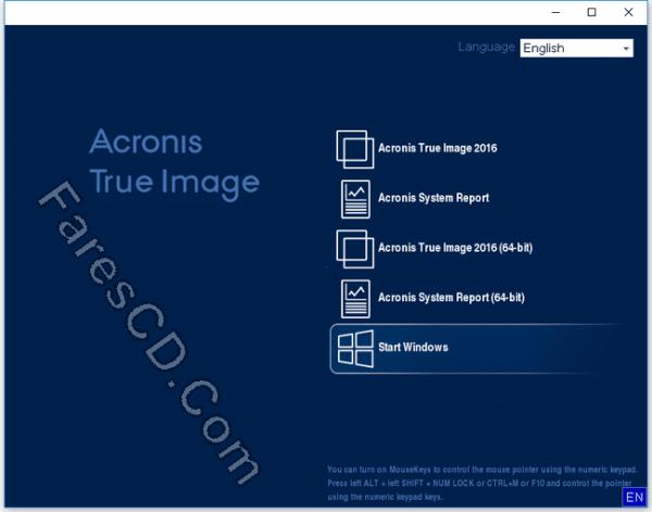 اسطوانة النسخ الإحتياطى للويندوز  Acronis True Image 2016 19.0 Build 6571 (2)