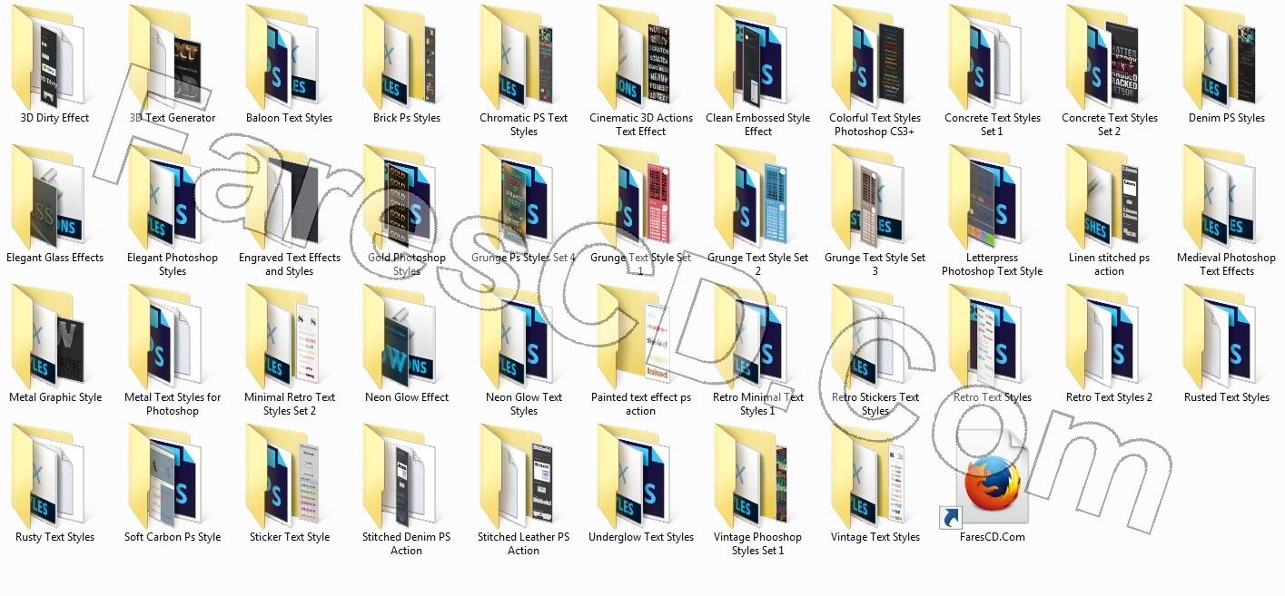 موسوعة المؤثرات النصية للفوتوشوب Premium Photoshop Text Styles (2)