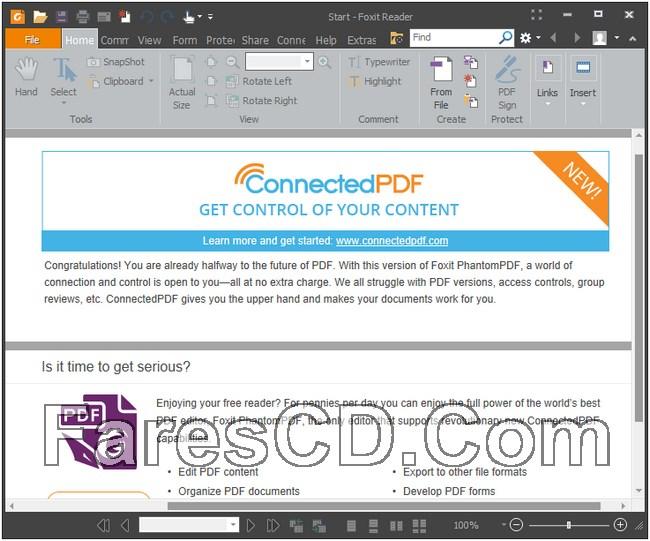 إصدار جديد من برنامج فوكسيت ريدر   Foxit Reader 9.0.1.1049
