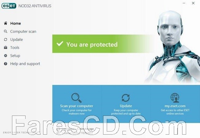 إصدار جديد من برنامج الحماية الشهير   ESET NOD32 Antivirus 11.0.159.9