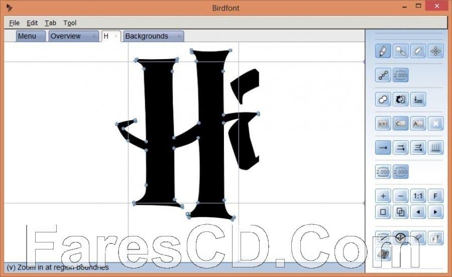 برنامج تصميم الخطوط العربية والإنجليزية | BirdFont 3.32.1 Final