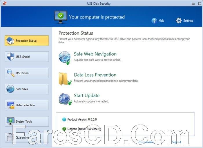 برنامج الحماية من مخاطر الفلاشات   USB Disk Security 6.6.0.0 Multilingual