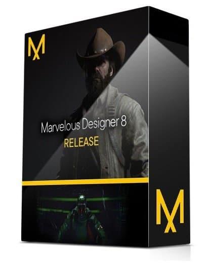 برنامج تصميم الملابس والأقمشة   Marvelous Designer 8