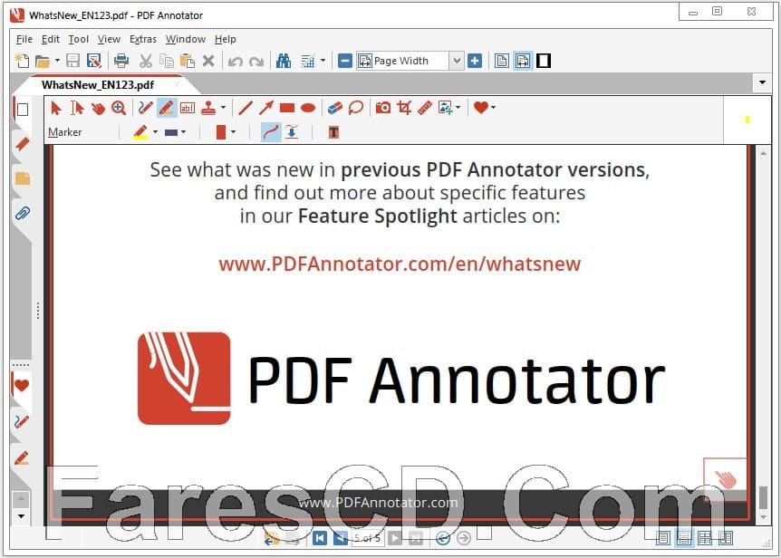 برنامج إضافة التعليقات على ملفات بى دى إف | PDF Annotator