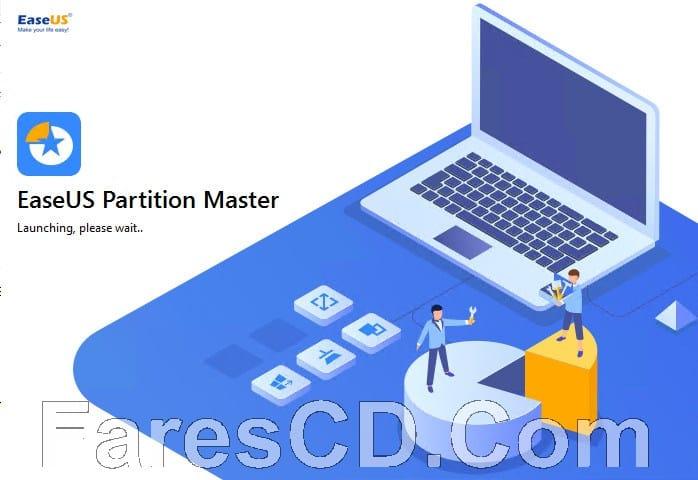 برنامج تقسيم الهارديسك 2019   EaseUS Partition Master 13.5 Technician Edition