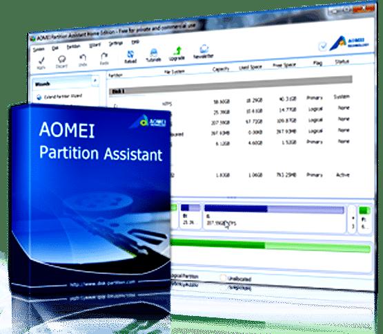برنامج تقسيم الهارديسك   AOMEI Partition Assistant