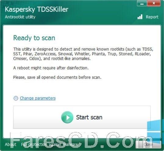 أداة كاسبر للحماية من البرامج الخبيثة | Kaspersky TDSSKiller