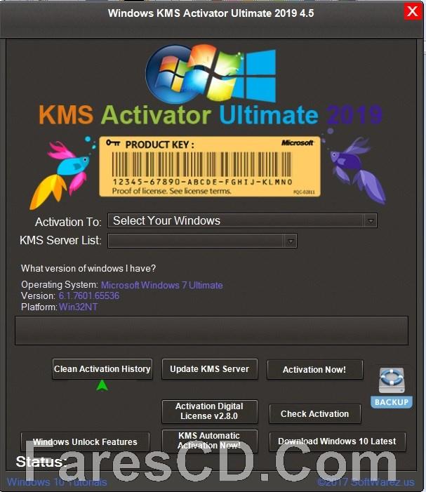 أداة تفعيل الويندوز والأوفيس | Windows KMS Activator Ultimate 2019 4.5