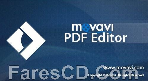 برنامج إنشاء وتحرير ملفات بى دى إف   Movavi PDF Editor 3.0.1