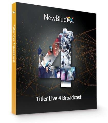برنامج الكتابة على البث المباشر | NewBlueFX Titler Live 4 Broadcast