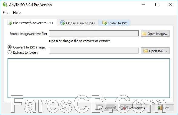 برنامج إنشاء وتحويل ملفات أيزو | AnyToISO Professional