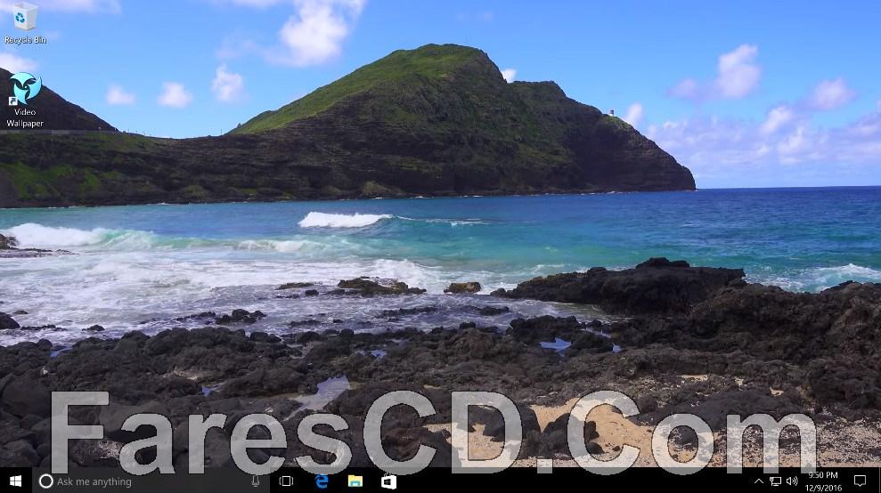 برنامج تشغيل الفيديو على الديسكتوب   PUSH Video Wallpaper Screensaver