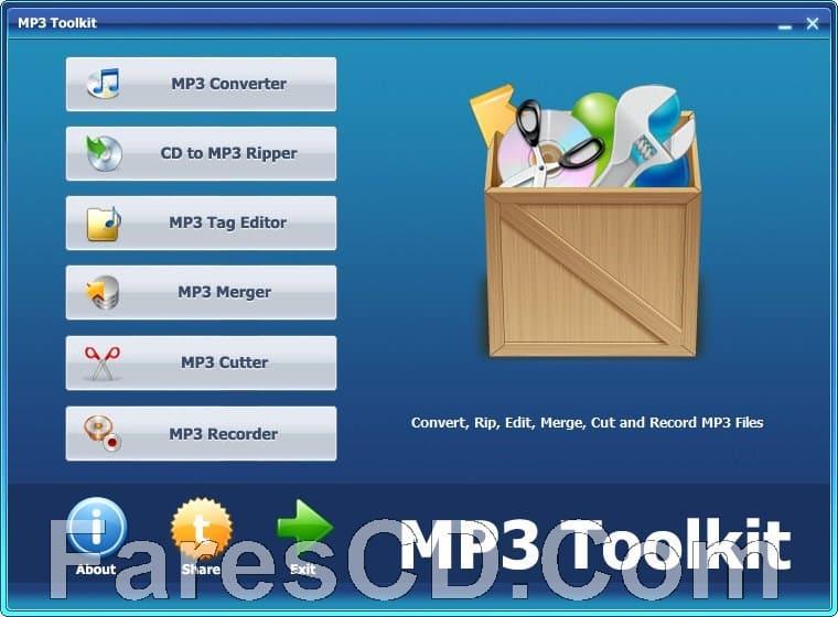 تجميعة أدوات تحرير الملقات الصوتية | MP3 Toolkit