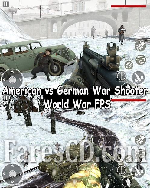 لعبة الحروب و الاكشن للاندرويد | American War Shooter: World War FPS MOD v3.2