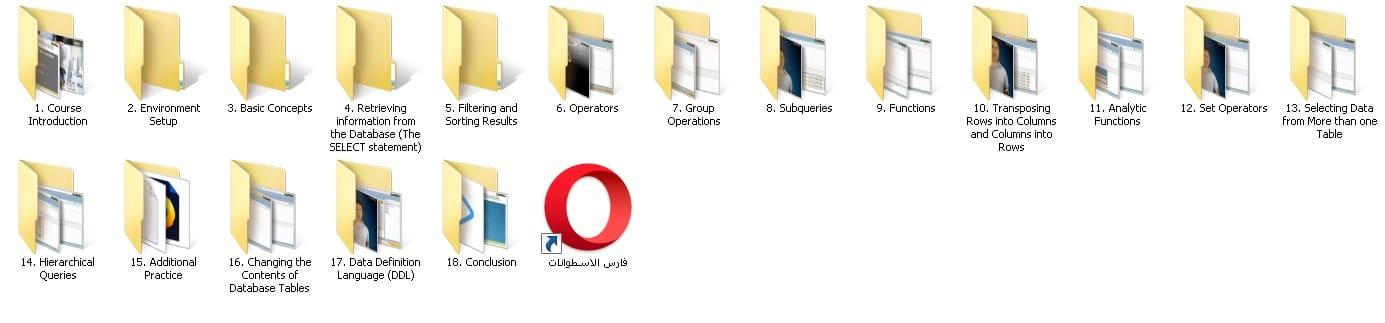 كورس أوراكل إس كيو إل | The Ultimate Oracle SQL Course - فارس الاسطوانات