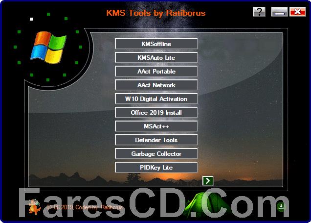 تجميعة تفعيلات الويندوز والأوفيس   Ratiborus KMS Tools 01 08