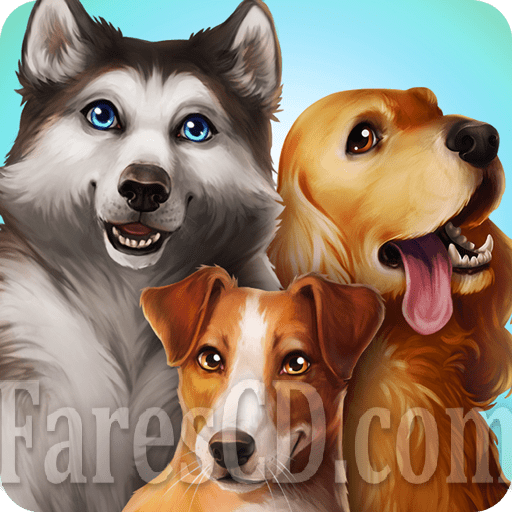 لعبة تربية الكلاب   DogHotel Play with Dogs MOD v2.1.2   أندرويد
