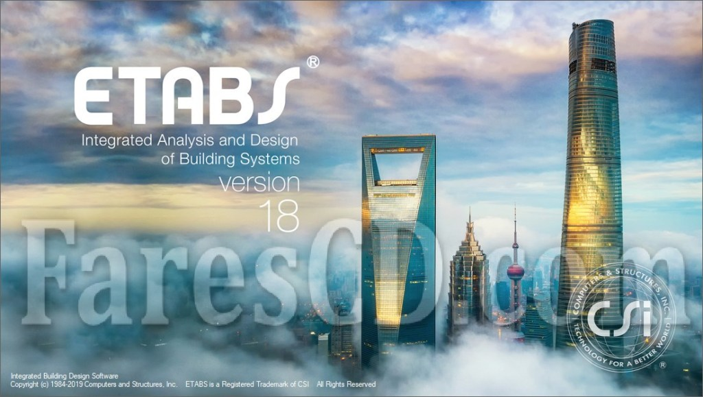 برنامج إيتابس للتصميم الإنشائى 2019 | CSI ETABS Ultimate 18.0.2 Build 2064 (x64)