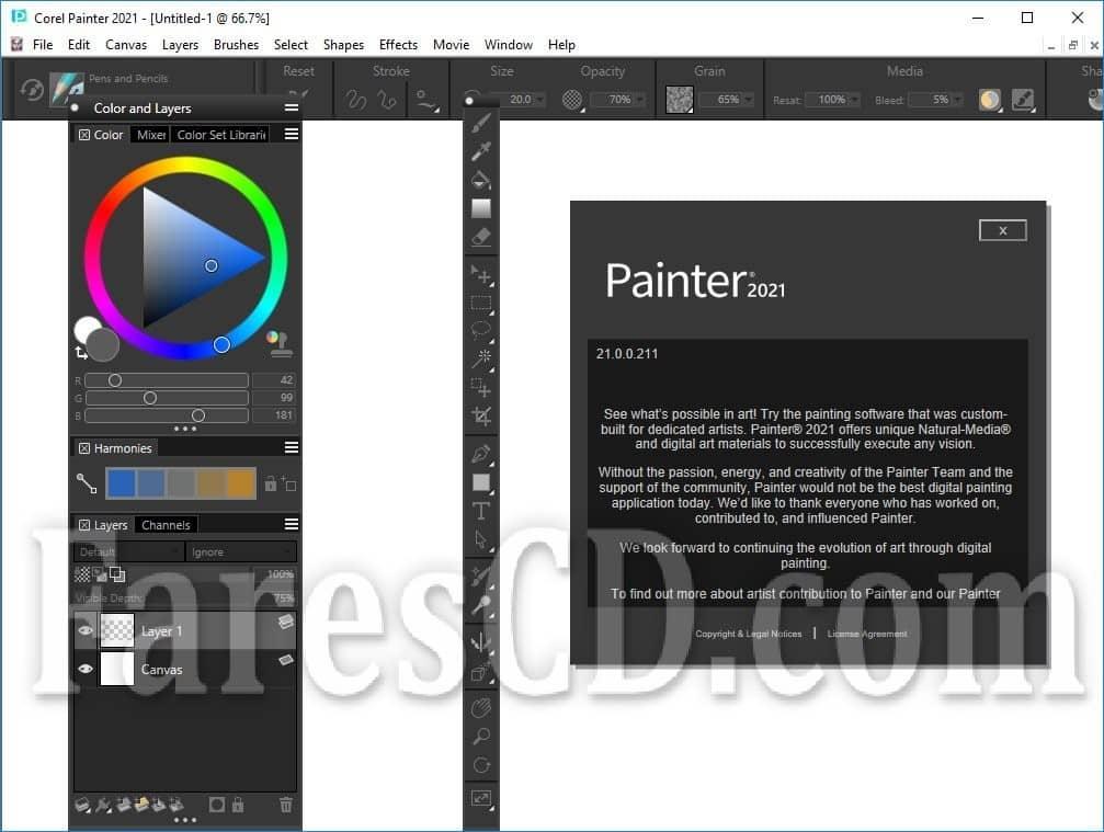 برنامج كوريل للتصميم بالفرش | Corel Painter 2021