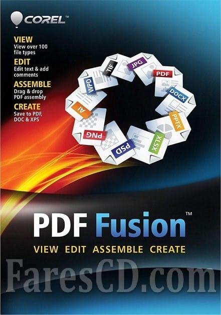برنامج كوريل بى دى إف فيوجن الرهيب | Corel PDF Fusion 1.14