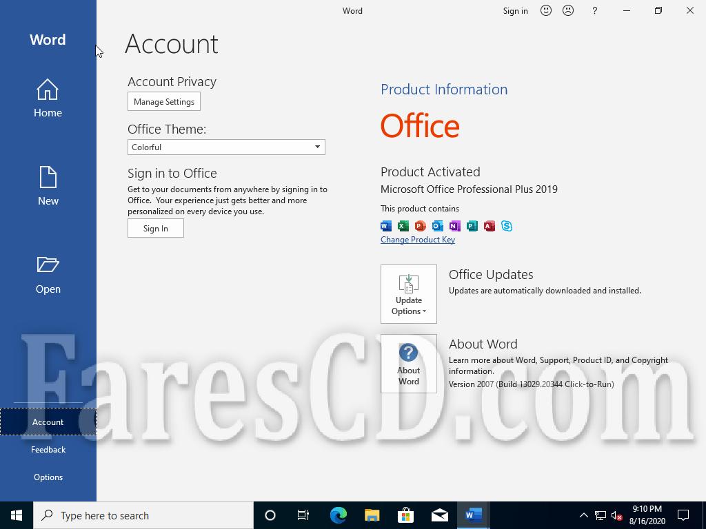 ويندوز 10 20H1 و أوفيس 2019 بـ 3 لغات | Windows 10 AIO 20H1 With Office 2019 | أغسطس 2020