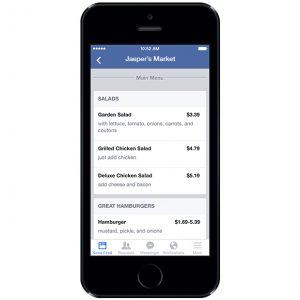 marketing: Menù ristoranti su Facebook