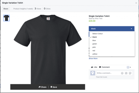 Woocommerce su Facebook