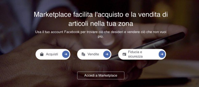Facebook Marketplace in Italia