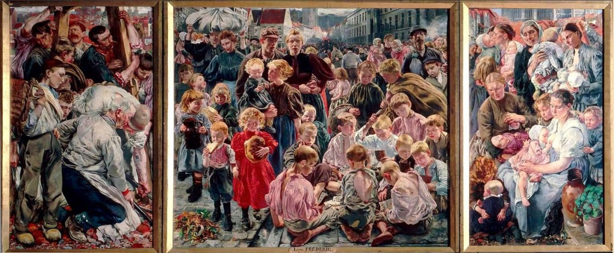 Léon Frédéric: The Workman's Ages, 1897