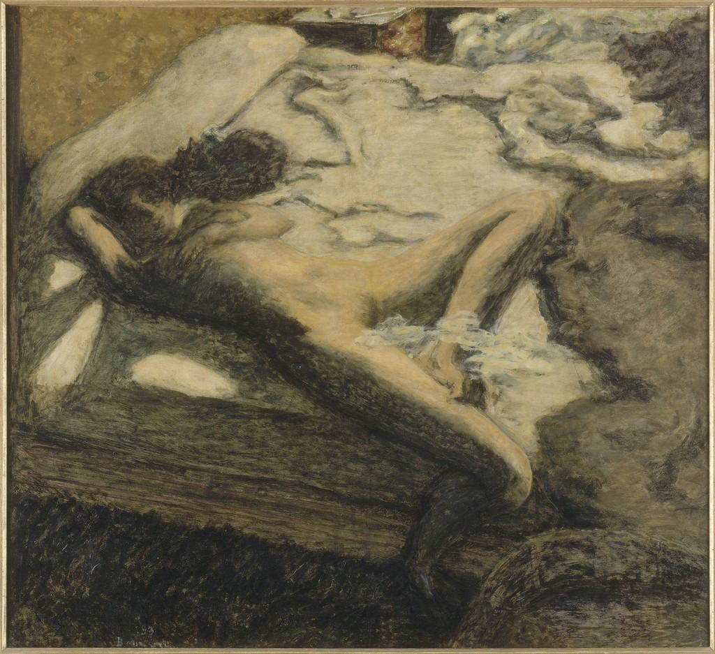 Pierre Bonnard: Woman reclining on a bed, or: L'Indolente, 1899