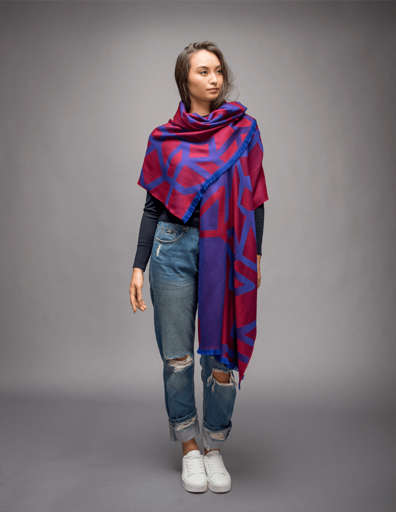Women Red Winter Scarf