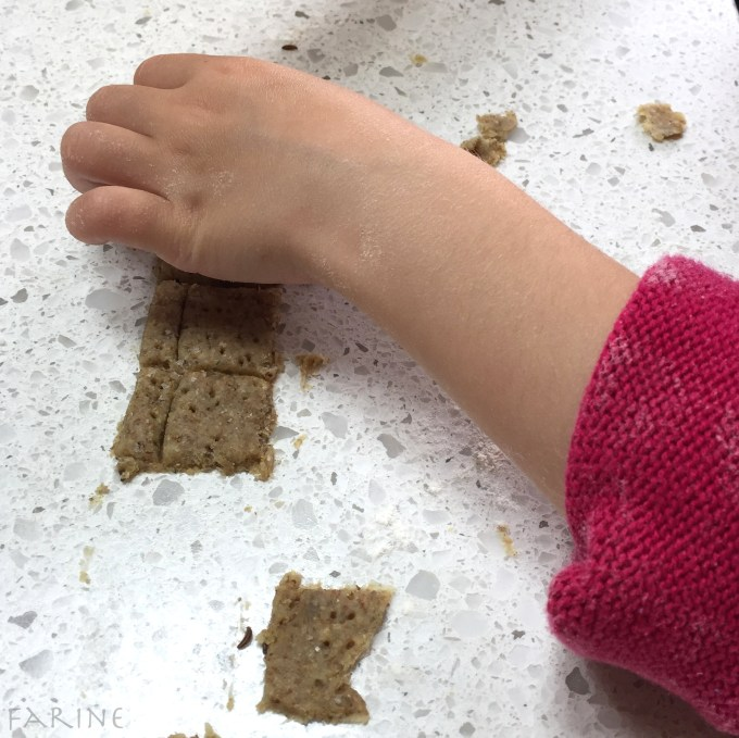 Little hand with crackers