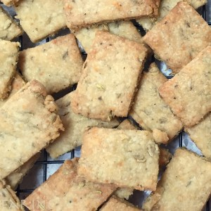 Italian Crackers: 50% Whole-wheat with Parmesan Cheese, Fennel and Olive Oil