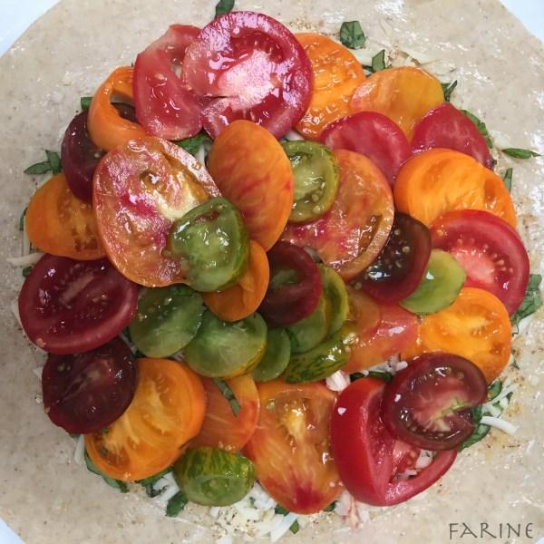 Tomato galette - pre-folding