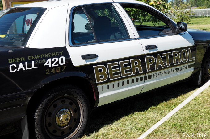 beer patrol car