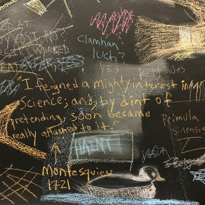 Blackboard at the Bread Lab