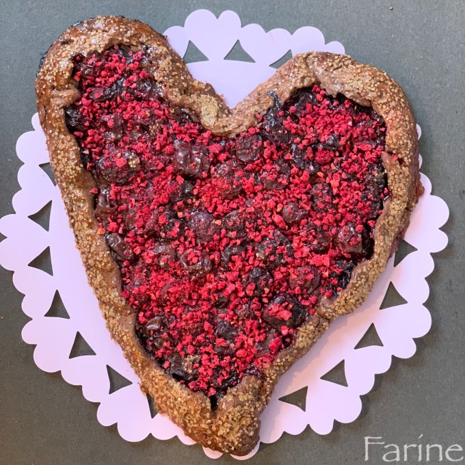 Heart-shaped galette