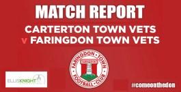 Match Report 09/10/2019 – Carterton Town Vets v Faringdon Town Vets