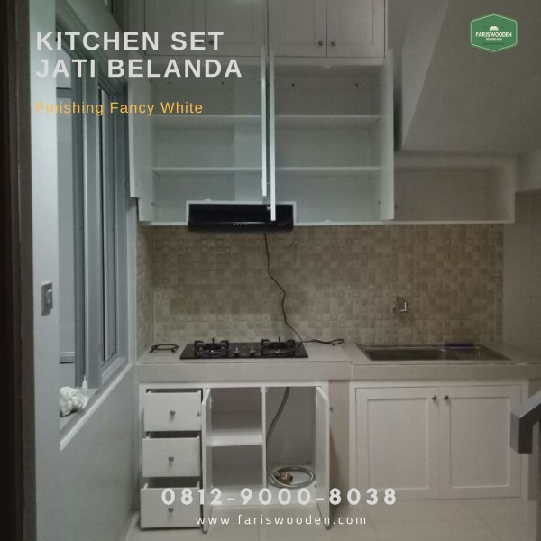 Kitchen Set Dari Kayu Jati Belanda Fariswooden Pinewood