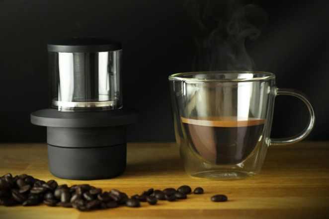dünyanın en küçük espresso makinesi