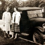 Barbara with Alice Dyar Russell, in Pasadena, California, March 1930