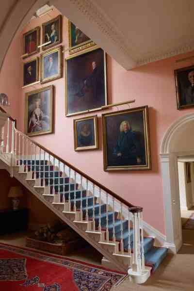 hall with portraits