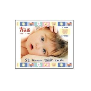 TRUDI BABY CARE PANNOLINI DRY FIT MINI 3/6 KG 21 PEZZI