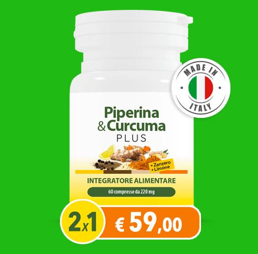 Piperina & Curcuma Plus, ora con Zenzero e Limone